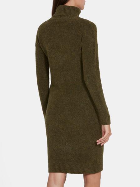 jurk met col groenarmy